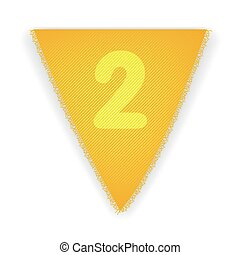 Bunting flag number 2 - eps 10 vector illustration