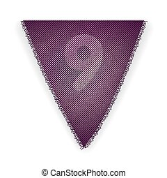 Bunting flag number 9 - eps 10 vector illustration