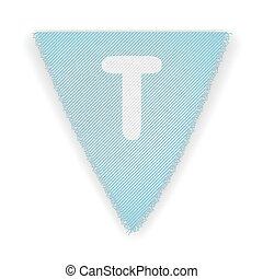 Bunting flag letter T - eps 10 vector illustration
