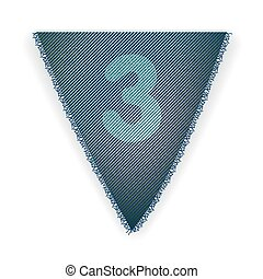 Bunting flag number 3 - eps 10 vector illustration
