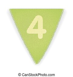 Bunting flag number 4 - eps 10 vector illustration