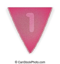 Bunting flag number 1 - eps 10 vector illustration