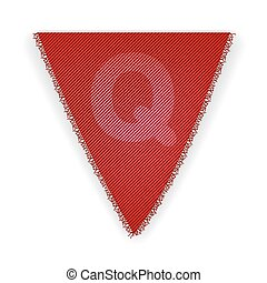 Bunting flag letter Q - eps 10 vector illustration