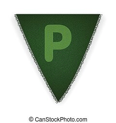Bunting flag letter P - eps 10 vector illustration