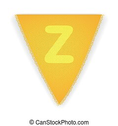 Bunting flag letter Z - eps 10 vector illustration