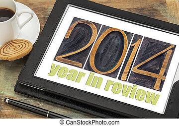 year 2014 in review - 2014 year in review - text in...