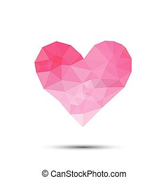 Pink heart abstract isolated on a white backgrounds