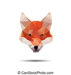 Find Similar Images Fox abstract isolated on a white...