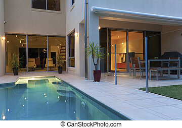 Luxury home - Luxurious modern house with swimming pool and...