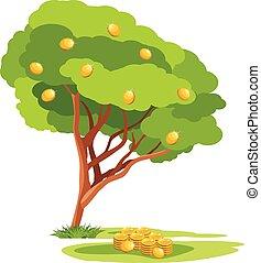 Money tree. Vector illustration