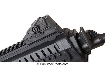 Folding front sight - Front sight on an AR-15 that is down...