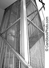 Elevator shaft - Old elevator shaft
