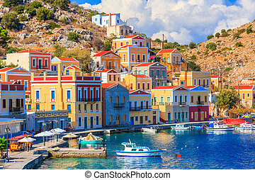 Stunning Greek Island - Beautiful summers day on the Greek...