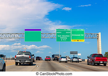 Houston Katy Freeway Fwy in Texas USA - Houston Katy Freeway...