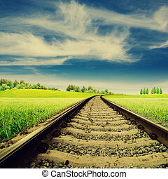 Railroad Abstract rural landscape for your design