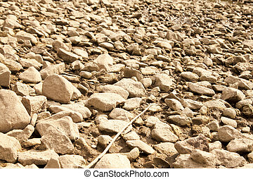 Dry riverbed in drought hit area