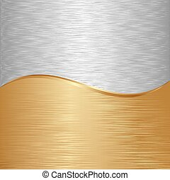 background - gold and iron metallic background