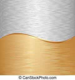 background - gold and iron metallic background