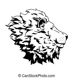 Lion head - This is an illustration of lion head