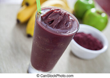 Acai smoothie - Acai berry smoothie higg in antioxidants