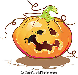 Halloween Pumpkin Isolated on white EPS 8, AI