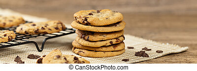 Chocolate chip cookies - Delicious Fresh Chocolate Chip...