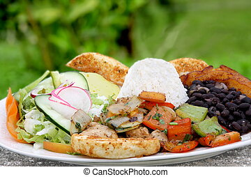 Casado - traditional food in Costa Rica