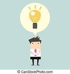 Creative businessman get the idea