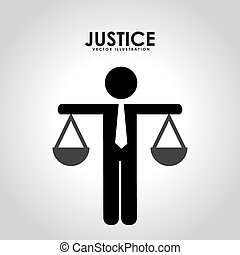 justice design - justice graphic design , vector...