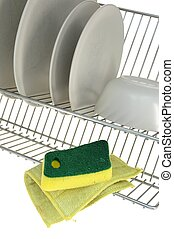 Dish Rack - A close up shot of a dish rack