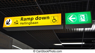 Terminal, lotnisko, znak