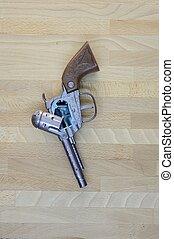 Hand Gun - A close up shot of a toy hand gun