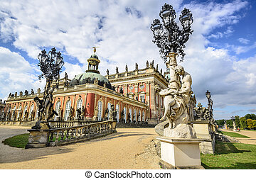 Potsdam Germany - Neues Palais in Potsdam, Germany.