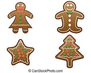 gingerbread cookies set vector