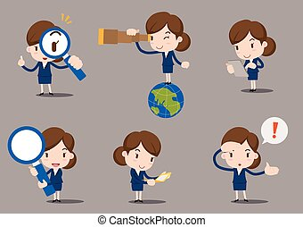 Businesswomen cartoon vector illustration