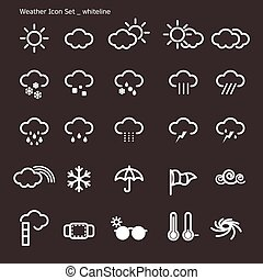 icon set-weather-white line