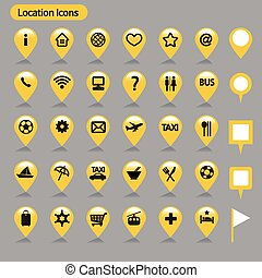 location icons _ Yellow