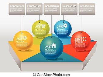 info-graphic - pentagon - info-graphic - sphere style -...