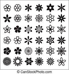 Vector Object - Flower set