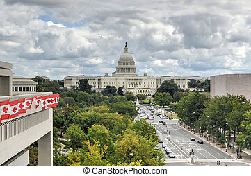 US Capitol in Washington DC - The US Capitol Building and...