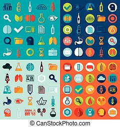 Set of medical icons