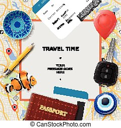 Travel time template