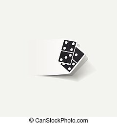 realistic design element: domino