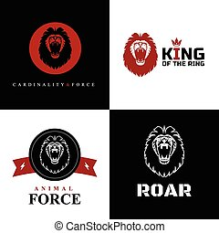 Lion Logo Graphic Designs - Vector Lion Logo Graphic Designs...