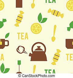 Simple Tea Concept in Seamless Pattern
