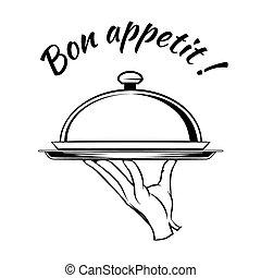 Bon Appetit delicious dish element for a restaurant menu...