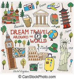 Travel Time - Time to Travel with landmarks from different...
