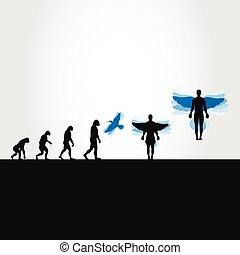 Evolution in a bird