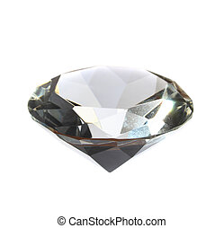 diamond - very nice diamond isolated on the white background