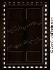 Prohibition Era Background and Frame Design - A vintage...